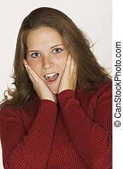 Woman making faces - Model Release 289 Woman looking...