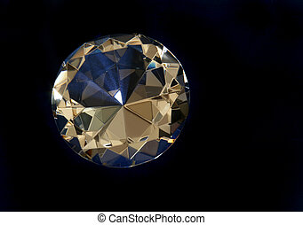 Round Diamond - Brilliant Cut Diamond on Dark Background