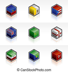 Flag Icons Set - Design Elements 56y, it\\\'s a high...