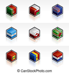 Flag Icons Set - Design Elements 56u, it\\\'s a high...