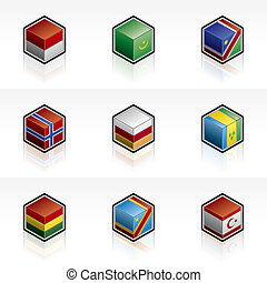 Flag Icons Set - Design Elements 56i, it\\\'s a high...