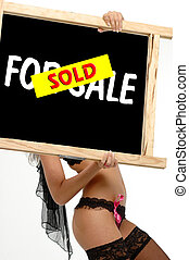 Info Sign Sold