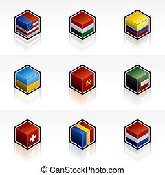 Flag Icons Set - Design Elements 56b, it\\\'s a high...