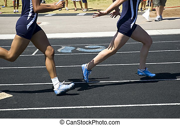 Baton - Passing the baton during relay competition