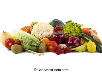 Vegetables and Fruits - Different kinds of vegetables and...