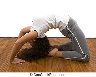 Yoga - Girl doing yoga