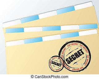 business folder secret - Folder with top secret stamped on...
