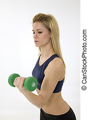 Fitness - Model Release 276 Young caucasian woman working...