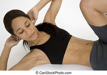 Fitness - Model Release 379 Young African American woman...
