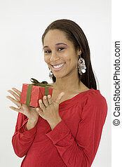 Model Release 379 - African American teen excired about...