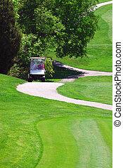 Golfers In Golf Cart