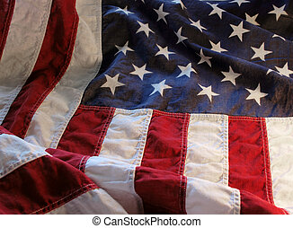 old American flag 1 - a very old American flag in good...