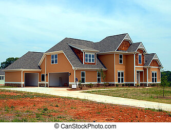 new home for sale - New home for sale photographed in rural...