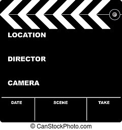 film clapper - Flim clapper board with space to put your own...