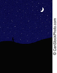 Starry Night - If you look closely you can see the...