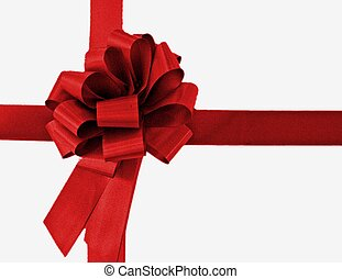 big red bow - red ribbon in a bow