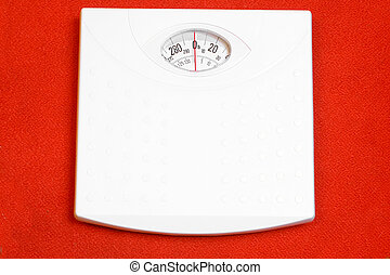 weight scale - a balanced weight scale ready for use