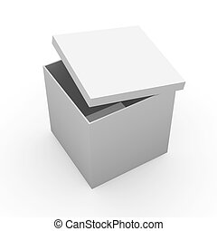 Generic Box - 3D Illustration.