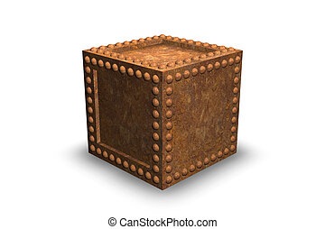 Rusty Security Container - 3D Illustration