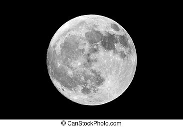 Real Full Moon Hi-Res - Actual photograph of the full moon...