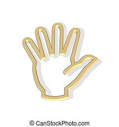 hand icon - 3d hand icon