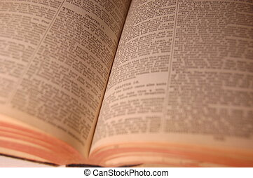 Open Book - Open antique bible