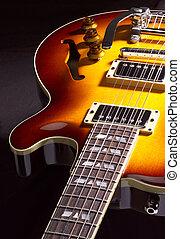 Électrique, guitare, closeup