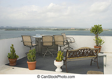 rooftop view san juan harbor - rooftop bar and lounge old...