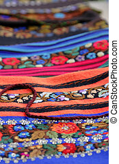 Romanian crafts - Artistic view of few pieces of Romanian...