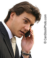 Man on cell - Business person on the phone