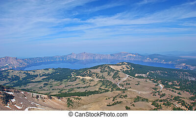 Crater Lake, Mount Scott viewpoint - Crater Lake view from...