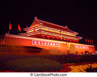 Tian An Meng - Landmark architecture Tian an meng in Beijing...