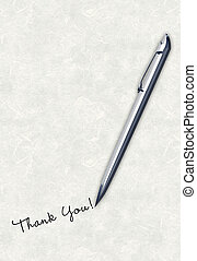 Writing Thank You - Pen writing handwriting thank you...