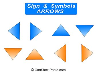 arrow sign - arrow icon sign - computer generated clipart...