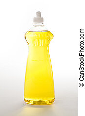 Dishwashing Liquid - a yellow bottle Dishwashing Liquid