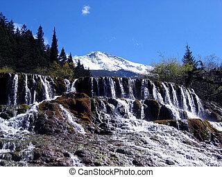 Waterfall - Jiuzhaigou Valley Scenic and Historic Interest...