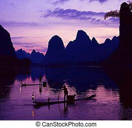Fishermen - The view in Guilin,GuangXi,china