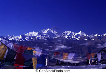 Mount Everest(8848.13M)in Tibet