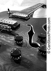 black and white guitar - Black and white bstract shot...