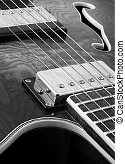 abdtract B and W guitar - Black and white shot of a semi...
