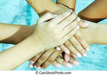 Children Playing - Hands of Children Playing