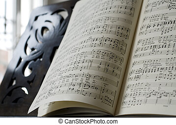 music - Grand Piano and lyrics book