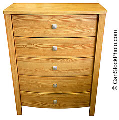 Chest of Drawers - Contemporary Oak Chest of Drawers in...