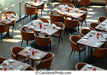 Tables in a resturant.