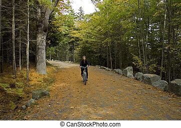 Biking on Carriage Road - Marina Biking on Carriage Road,...