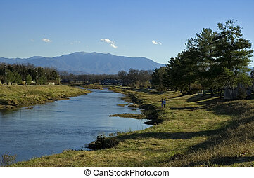 Mt. LeConte (Great Smoky Mtns), Little Pigeon River,...