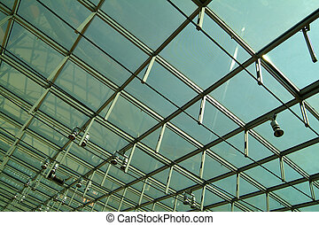 modern glass roof