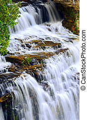 Waterfall - Beautiful cascading waterfall flowring over...