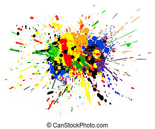 Paint spill - Design of colorful paint spill grunge
