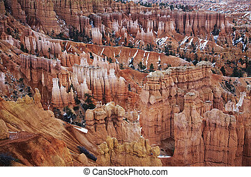Hoodoos in Bryce Canyon National Park, Utah, United States